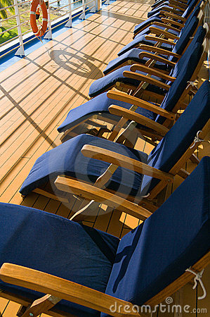 Free Chairs On Promenade Deck Royalty Free Stock Images - 1730779