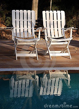 Chairs and pool