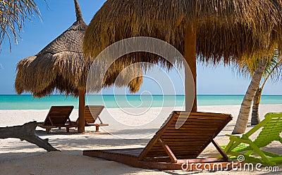 Chairs on a Pristine Beach