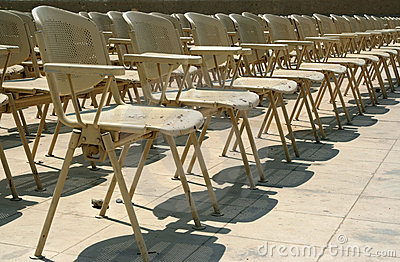 Chairs in a rows