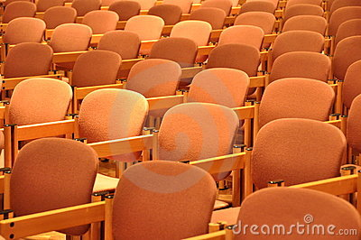 Chairs in rows