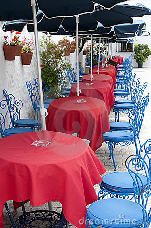 Free Chairs & Tables In A Outside Restaurant Royalty Free Stock Images - 20122699