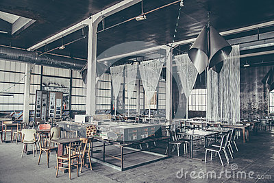 Chairs And Tables Inside Empty Restaurant Free Public Domain Cc0 Image