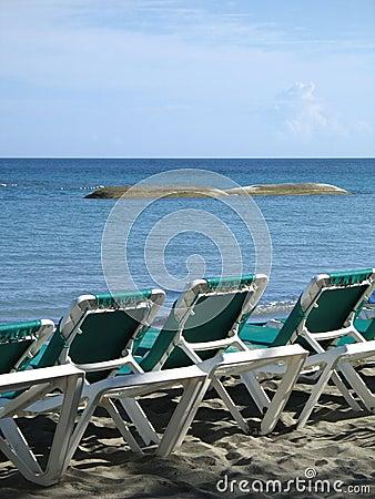 Chairson the beach