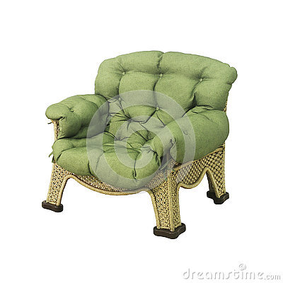 Chaise en osier confortable photo stock image 76247489 for Petite chaise en osier