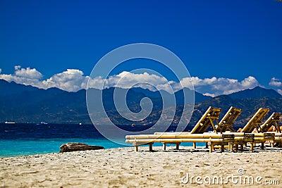 Chaise-longue at the beach