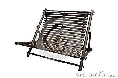 Chaise longue en bambou d 39 isolement image stock image for Chaise longue bambou