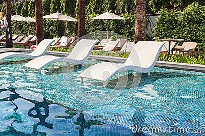 Modern Pool Chaise