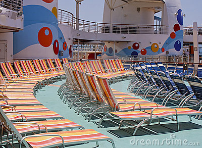 Chaise Lounges on a Ships Deck