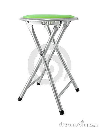 chaise pliante verte ronde d 39 isolement sur le fond blanc photo stock image 47660177. Black Bedroom Furniture Sets. Home Design Ideas