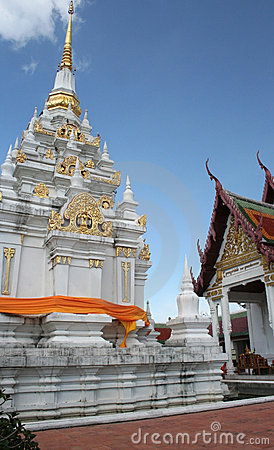 Chaiya Pagoda Temple in South of Thailand