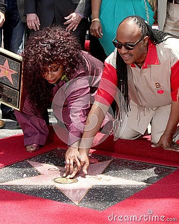 Chaka Kahn,Stevie Wonder Editorial Stock Image