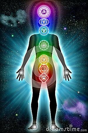 Free Chakra Body Universe Royalty Free Stock Photos - 21625818