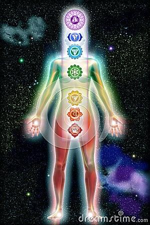 Free Chakra Color Body Universe Stock Photography - 21625932