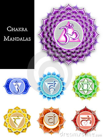 Free Chakra Mandalas Isolated Stock Image - 22073221