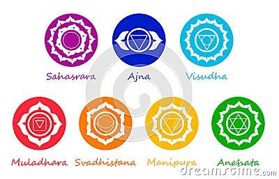 Chakra symbols Vector Illustration