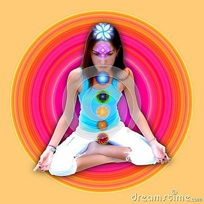 Free Chakras Girl Stock Photos - 732703