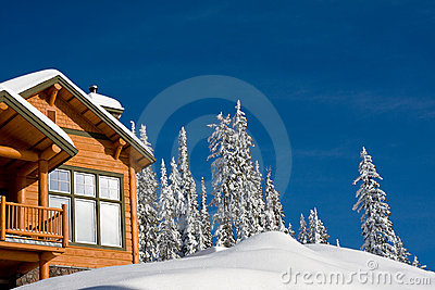 Chalet di inverno