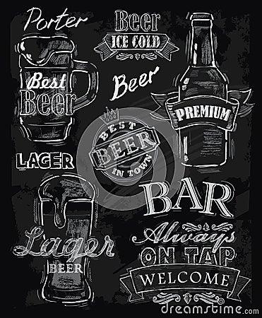 Free Chalk Beer Stock Image - 34449791