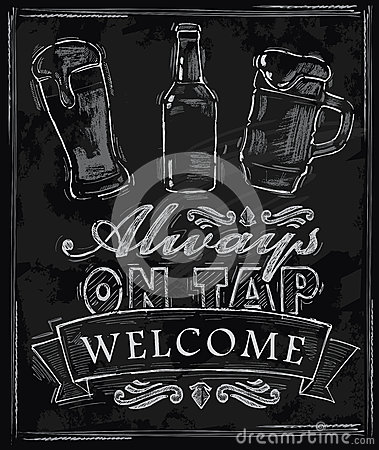 Free Chalk Beer Royalty Free Stock Photography - 34450037