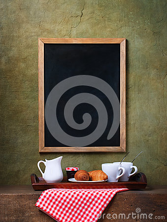 Free Chalk Board Menu And Breakfast Royalty Free Stock Photo - 41360695
