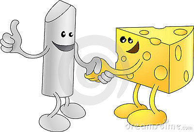 Chalk and Cheese happily shaki