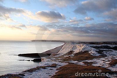 Chalk cliff hill seaside seven sisters england