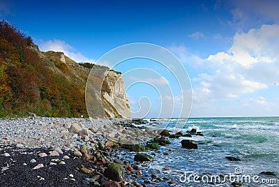 Chalk cliffs (Ruegen, Germany)