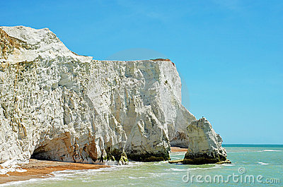 Chalk cliffs seaford england