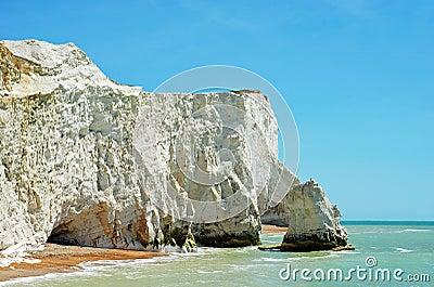 Chalk cliffs seaford england