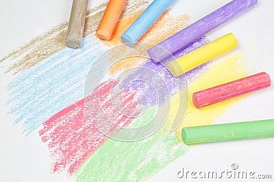Chalk drawing.