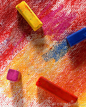 Free Chalk Pastels Royalty Free Stock Photos - 240458