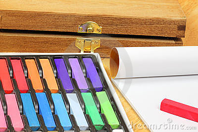 Chalk pastels for drawing
