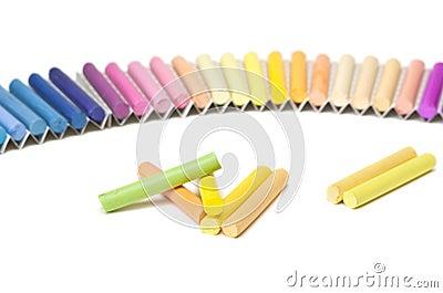 Chalk sticks.