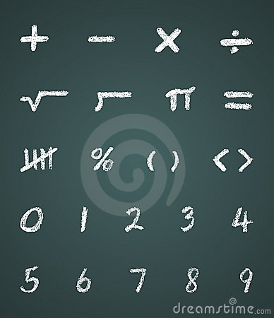 Free Chalk Vector Math Symbols And Numbers Royalty Free Stock Image - 6313206