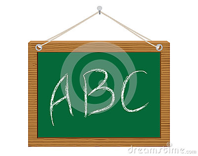 Chalkboard with ABC
