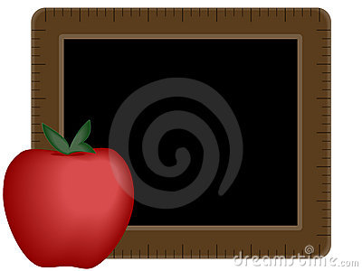 Chalkboard with Apple