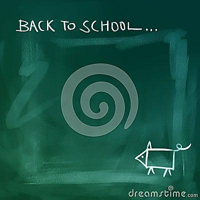 Chalkboard background - back to school
