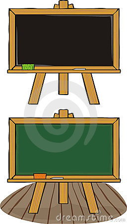 Chalkboard - black & green