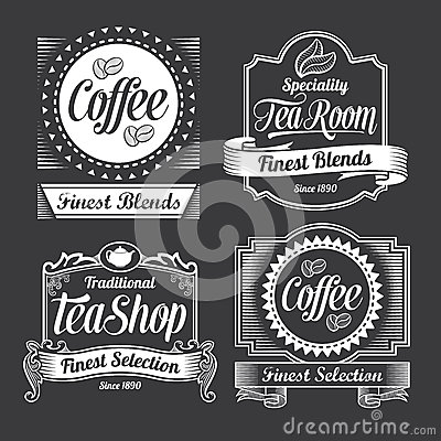 Free Chalkboard Calligraphy Banners And Labels Royalty Free Stock Photography - 34978387