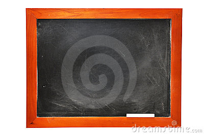 Chalkboard with Chalk (with clipping path)