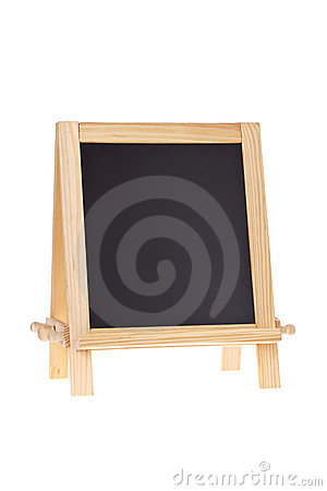 Chalkboard easel isolated on white
