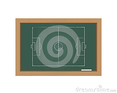Chalkboard with a football field