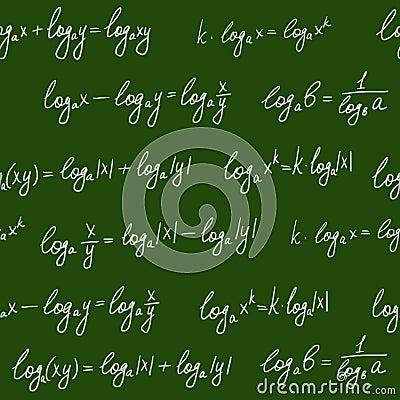 Chalkboard formulae seamless pattern