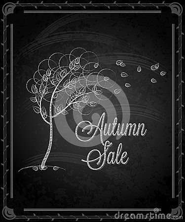 Chalkboard - frame autumn menu