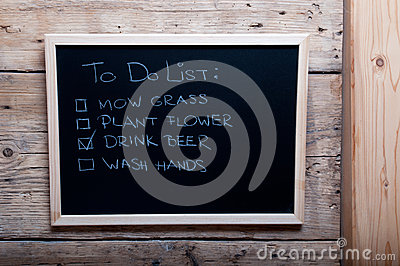 Chalkboard image with to do list