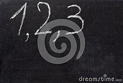 Chalkboard math classroom school