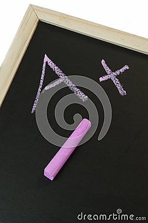 A+ on a Chalkboard