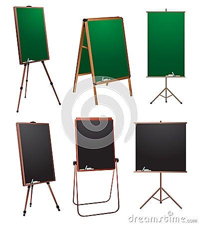Chalkboard stand.