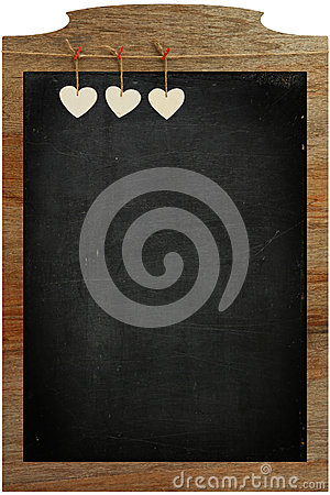 Free Chalkboard White Love Valentine S Heart Hanging On Wooden Frame Stock Photos - 37066123